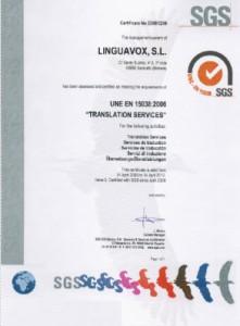 EN 15038 Certified Translation Services company
